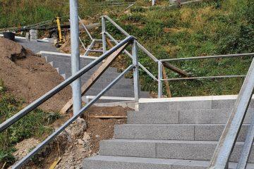 Treppe Ockenfels Baufortschritt