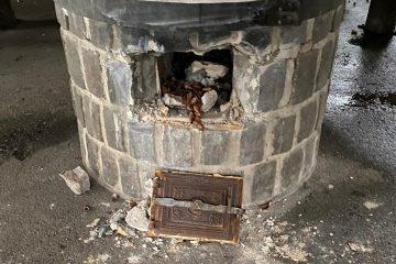 Schaden an der Grillhuette Ockenfels
